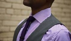 This is a great combination for a summer wedding. Purple Gingham shirt with solid purple tie and a grey suit. Shirt With Grey Suit, Dark Gray Suit, Suit And Tie, Dark Grey, Grey Vest, Purple Groomsmen, Bridesmaids And Groomsmen, Groomsmen Suits, Wedding Men