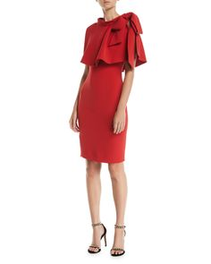 Badgley Mischka Collection Sheath Popover Cape Dress 4710e04c2