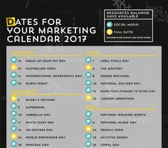 Ralawise. Marketing Calendar