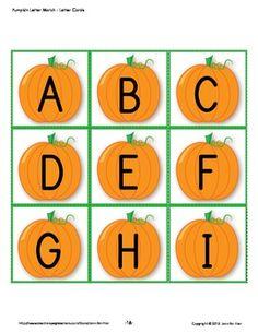 Pumpkin letter match set