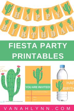 Enjoy our entire set of cactus free printables! This fiesta birthday ideas kit includes Mexican themed birthday games, cactus birthday décor, fiesta birthday thank you cards and cactus party invites. If you are looking for a diy fiesta birthday party kit, here it is. Simply download and then print for free. Be sure to save this pin so your daughter can enjoy a cactu themed birthday party! Check out our blog at VanahLynn.com to see our flamingo decoration ideas and tropical themed cake…