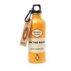 Penguin water bottle for Jack Kerouac Travel Water Bottle, Water Bottles, Eco Design, Agua Mineral, Penguin Classics, Jack Kerouac, Book People, Lost Girl, Penguin Books