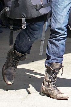 Mens Military Combat Boots | Raddest Men's Fashion Looks On The Internet: http://www.raddestlooks.org                                                                                                                                                      More