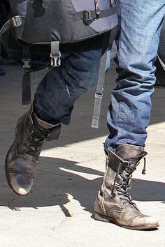 Mens Military Combat Boots | Raddest Men's Fashion Looks On The Internet: http://www.raddestlooks.org                                                                                                                                                      More