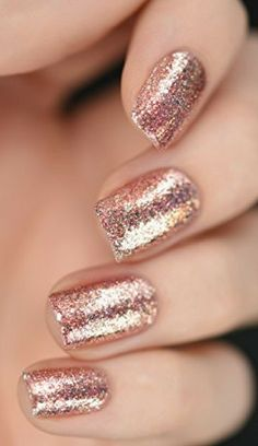 Rose Gold Holographic Nail polish
