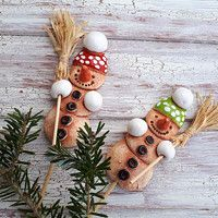 Vánoce / Zboží prodejce kuzu | Fler.cz Interior Design Living Room, Christmas Ornaments, Holiday Decor, Advent, Home Decor, Fimo, Snowman, Christmas, Clay