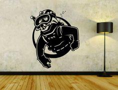 Scuba Diver Diving Logo Vinyl Decal Sticker Wall Boy Girl