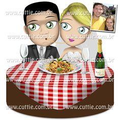 Caricatura para casamento - Noivos Katia e Paulo - noivinhos cuttie2
