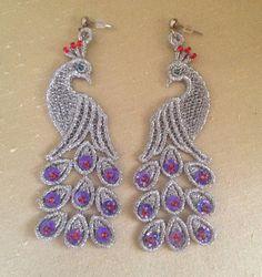 Lace earrings White lace earrings Sequin by NewCreativeBliss, $18.00
