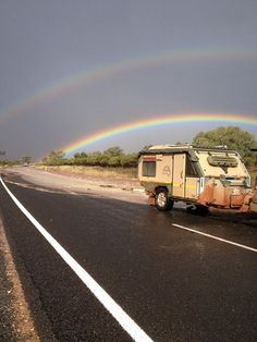 John sent us this amazing photo of his UEV under a rainbow in Broken Hill, NSW - the aftermath of conquering the weather in the outback!