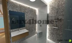 Pebble Wall - Model Standing Stone Maluku Tan. Lux4home™.