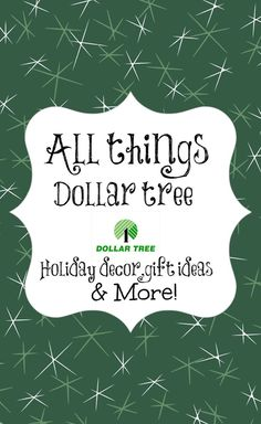 """Dollar Tree Christmas Crafts, Décor & More!...I Have Check The Site Out & There Are Literally 100's Of Some REALLY Cute Crafts, Décor, & Gifts You Can Make Or Throw Together Yourself, All From Items You Can Get At The """"Dollar Tree"""" Store...Click On Picture For Link..."""