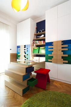 I like the shelves and the chair.