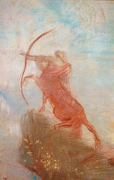 The Centaur by Odilon Redon c 1885 (pastel)