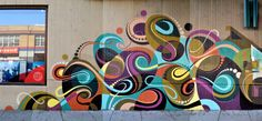 awesome mural art by Matt W. Moore + Kofie