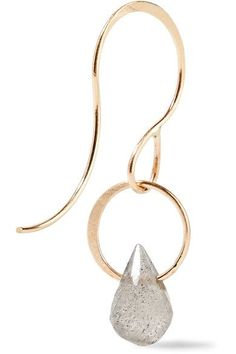 Teardrop 14-karat Gold Hoop Earrings - one size Melissa Joy Manning qQ5hLx5