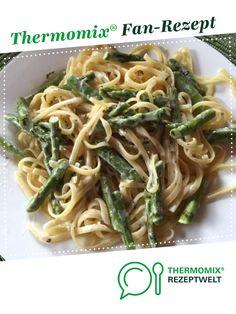 Linguine mit grünem Spargel von olienebiene. Ein Thermomix ® Rezept aus der Kategorie Hauptgerichte mit Gemüse auf www.rezeptwelt.de, der Thermomix ® Community.