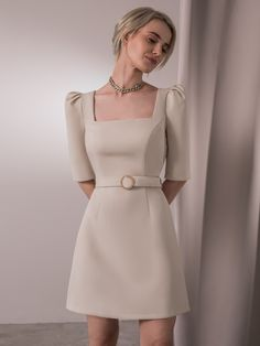 Elegant Outfit, Classy Dress, Elegant Dresses, Pretty Dresses, Beautiful Dresses, Chic Dress, Formal Dresses, Teen Fashion Outfits, Look Fashion