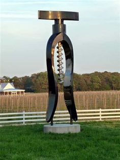 Cork Screw Lancaster Co., VA north of Irvington at White Fence Winery by Jack Brown. I'd like a bottle opener in my yard!