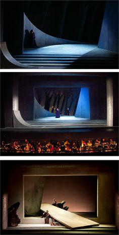 Tristan und Isolde. Welsh National Opera. Scenic design by Yannis Kokkos. 2006