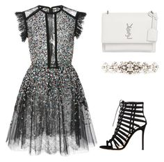 """""""Rae"""" by skajackson on Polyvore featuring Elie Saab, Gianvito Rossi, Yves Saint Laurent and Dolce&Gabbana"""
