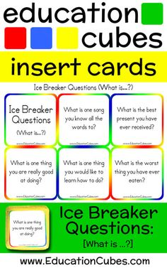 """Make """"getting to know you"""" activities more fun and interactive by using Education Cubes, customizable learning blocks for all your educational needs! Get To Know You Activities, Ice Breakers, Would You Rather, Getting To Know You, First Day Of School, Cubes, More Fun, Knowing You, Student"""