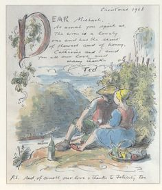 Edward Ardizzone: Sketches for Friends Travel Sketchbook, Artist Sketchbook, Edward Ardizzone, Drawing Lessons, Watercolor Cards, Mail Art, Book Illustration, Illustrators, Book Art