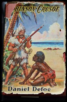 Vintage books - Robinson Crusoe, Daniel Defoe  https://www.facebook.com/MemoryLaneAntiquesandCollectibles