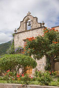Church on the Plaza in Ajijic, Lake Chapala, Jalisco, Mexico