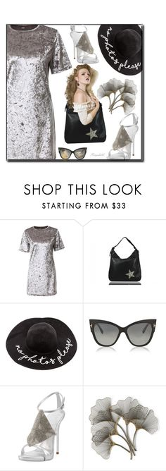 """""""Dreamy Dress"""" by ragnh-mjos ❤ liked on Polyvore featuring Tom Ford, Giuseppe Zanotti and WALL"""