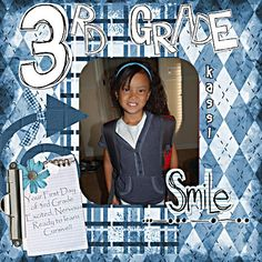 3rd Grade: Kassi and Josh started 3rd Grade this week.. so here is Kassi's first day of school photo.. she is so excited to learn cursive hand writing!!! credits: Fieldberry, Scrappytbear, TTS Template, Susan Blanton, her blog Cutout Elements, Laura McGee, TTS Cutout Alpha, Laura McGee, TTS Attach a Note, Laura Burger, DSS fonts are papyrus, poornut
