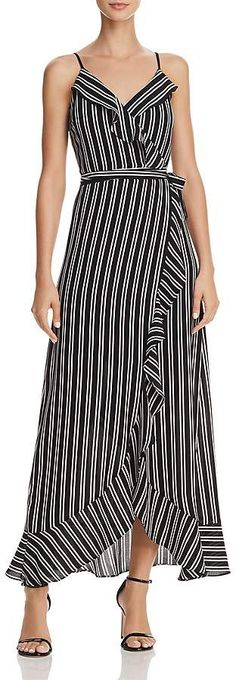 Buy Phase Eight Maisie Striped Maxi Dress, Navy/Ivory from our Women's Dresses range at John Lewis & Partners. Black Women Fashion, Womens Fashion, Fashion Edgy, Striped Maxi Dresses, Maxi Wrap Dress, Fashion Over 40, Streetwear Fashion, Fashion Outfits, Fashion Hats