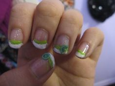 Lime french tips