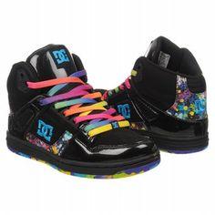 Athletics DC Shoes Women's Rebound Hi Black/Splatter FamousFootwear.com