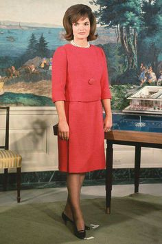 "Taken in early 1962 when Jacqueline Kennedy hosted a nationally-televised ""Tour Of The White House""."