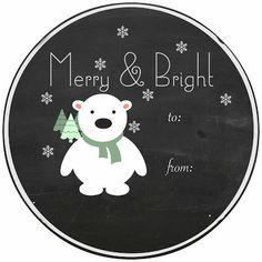 Craftberry Bush: Free Printable Chalkboard Gift Tags