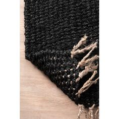 Shop for The Curated Nomad Kowolska Black Jute Handmade Casual Solid Tassel Area Rug. Get free delivery On EVERYTHING* Overstock - Your Online Home Decor Store! Area Rugs For Sale, Rug Store, Cool Rugs, Indoor Rugs, Online Home Decor Stores, Rugs Online, Colorful Rugs, Jute, Animal Print Rug