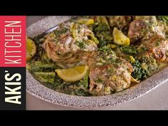 Greek Lamb fricassee by Greek chef Akis Petretzikis. A unique, authentic, traditional Greek dish which has a delicious egg lemon sauce, tender lamb and lettuce. Sweets Recipes, Dinner Recipes, Cooking Recipes, Good Food, Yummy Food, Greek Cooking, Greek Dishes, Greek Recipes, One Pot Meals