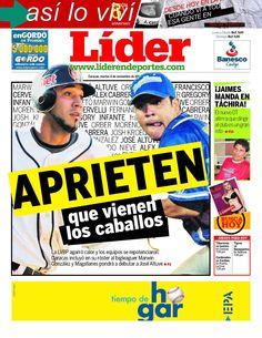 APRIETEN que vienen los caballos. La Liga Venezolana de Beisbol Profesional agarró calor y los equipos se repotenciaron. E snuestra portada de este martes 6 de novimebre