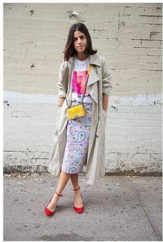 Leandra Medine of The Man Repeller Mina + Olya trench coat; t-shirt; Estilo Fashion, Look Fashion, Ideias Fashion, Womens Fashion, Leandra Medine, Look Street Style, Street Chic, Trent Coat, Caroline Daur