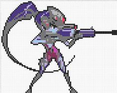 Overwatch Pixel Spray Pattern: Widowmaker