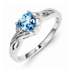 925 Sterling Silver Colored w/ White Gold Dia. Lt Swiss Highest Quality December Simulated Birthstone Blue Topaz Love Heart Engagement Ring (.02 cttw.) (2mm) http://blackdiamondgemstone.com/colored-diamonds/jewelry/925-sterling-silver-colored-w-white-gold-dia-lt-swiss-highest-quality-december-simulated-birthstone-blue-topaz-love-heart-engagement-ring-02-cttw-2mm-com/