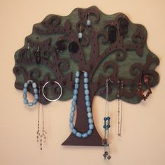 Large Tree Wall Hanging Jewelry Holder - 21.3 X 20 inches