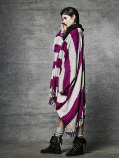 $92 100% cotton artisan woven poncho from guatemala. Ketzali.com fairtrade