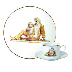 Jeff Koons Banality Series 5 Piece Place Setting - Michael Jackson and Bubbles
