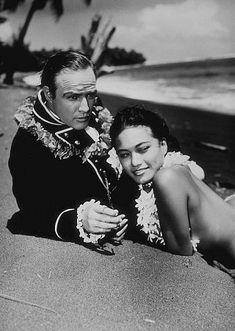 Marlon Brando & Tarita  'Mutiny On The Bounty'  1962