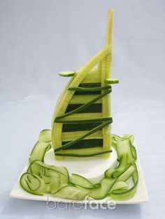 The cucumber Burj Al Arab #Dubai Food Styling by Mary-kei