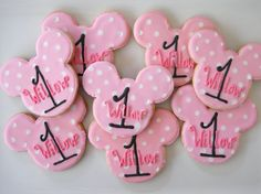Personalized Mickey & Minnie Cookies by TheHappyCaker on Etsy, $22.50