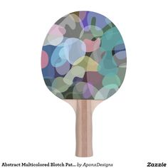 Abstract Multicolored Blotch Pattern Paddle