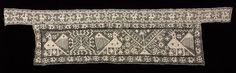 Panel with Birds, Flowers, and Suns, 1500s-1600s Italy, 16th-17th century bleached linen; needle lace, knotted (filet) and darned in two directions, Average - h:22.90 w:91.50 cm (h:9 w:36 inches). Gift of J. H. Wade 1920.1160